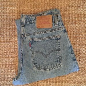 VINTAGE Levi's 550 Mom Jeans Tapered High Waist 13